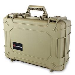 "Condition 1 18"" Medium #801 Tan Waterproof Hard Case with DI"