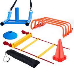 Football Soccer Speed Agility Training Aids Kit Set Sports F