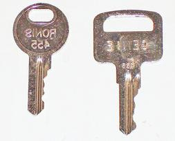 Genie Lift Equipment Keys-Pair-New & Old Style-Fits Many Mod