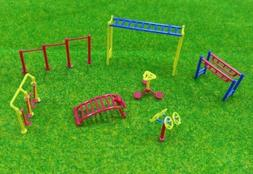 HO OO scale Train Accessories Layout Playground Fitness Equi