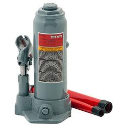 Pro-Lift B-004D Grey Hydraulic Bottle Jack - 4 Ton Capacity