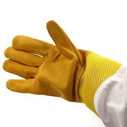 A Pair of Protective Beekeeping Gloves Net Goatskin Bee Keep