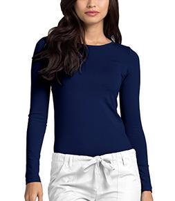 Adar Womens Comfort Long Sleeve T-Shirt Underscrub Tee - 290