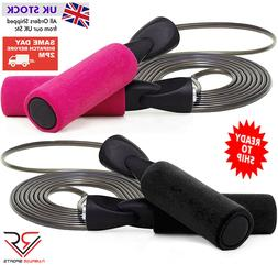 Adjustable SKIPPING ROPE Comfort Foam Weight Loss Boxing Spe