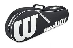 Wilson Advantage II Tennis Bag, Black/White/Light Grey