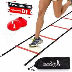 Agility Ladder Speed Training Equipment Workout Basketball F