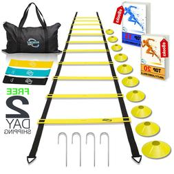 Agility Ladder Training Equipment Football Soccer Speed Cone