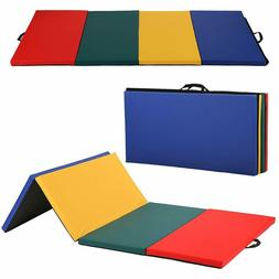 """All color 4'x8'x2""""Thick Folding Panel Gymnastics Mat Gym Fit"""