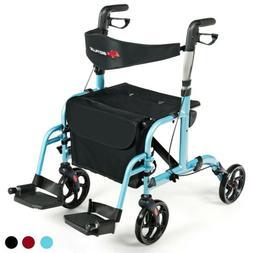 Aluminum Adjustable Folding Handle Medical Walker Rollator E