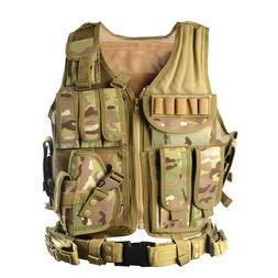 vAv YAKEDA Army Fans Tactical Camo Vest CS Field Outdoor Equ