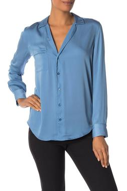 Authentic Equipment $230 Keira Long Sleeve Button Shirt, Mor