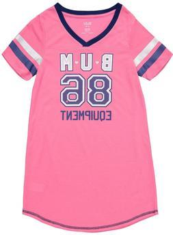B.U.M Equipment Girls Short Sleeve Jersey Sleep Shirt Pajama