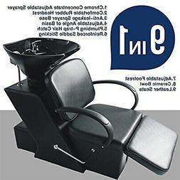 Backwash Barber Shampoo Chair Ceramic Bowl Sink Unit Station