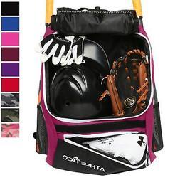 Athletico Baseball Bat Bag - Backpack Baseball, T-Ball & Sof