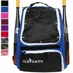 Athletico Baseball Bat Bag - Backpack for Baseball, T-Ball &