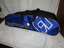 baseball equipment bag royal blue and black