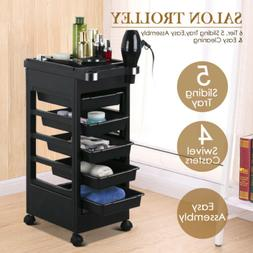 Salon Trolley Storage Cart Coloring Beauty Hair Dryer Holder