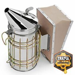 Honey Keeper Bee Hive Smoker Stainless Steel with Heat Shiel
