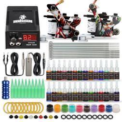 Beginner Tattoo Kit Supplies Equipment Set 20 Color ink Need
