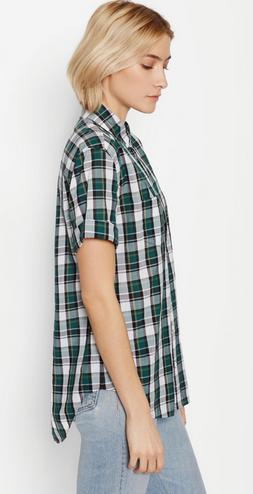 Equipment Betty Check Shirt Blue NWT $188