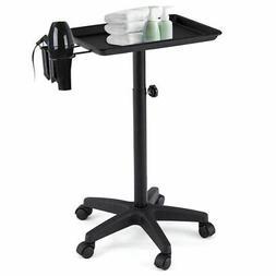 Black Equipment Salon Spa Service Tray Beauty Trolley Cart w