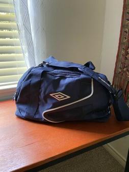 Umbro Blue Soccer Equipment Sports Gym Duffle Bag