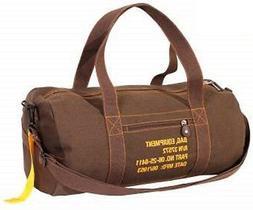 "Brown 19"" Military Equipment Duffle Luggage Shoulder Gym Bag"