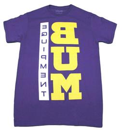 BUM EQUIPMENT BASIC LOGO T-SHIRT MENS PURPLE RETRO OLD SCHOO
