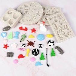 Cartoon Sports Equipment Supplies Fondant Silicone Mold for