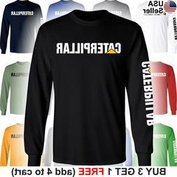 Caterpillar Long T-Shirt CAT Logo Tractor Equipment Bulldoze