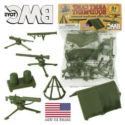 BMC Classic PLASTIC ARMY MEN CAMP EQUIPMENT - 10pc Tents and