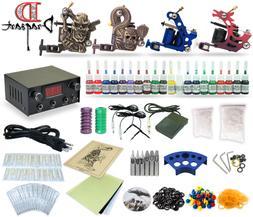 Complete Tattoo Kit 4 Machine Guns Equipment Power Supply 20