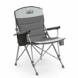 CORE Folding Padded Hard Arm Chair with Carry Bag Camping Ch