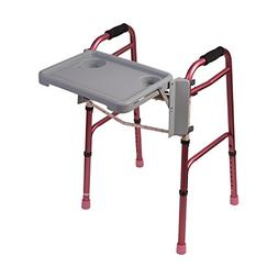 Folding Walker Tray - Foldable Walkers Tray Table With Cup H