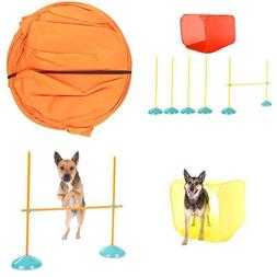 Dog Agility Starter Kit Obstacle Course Training Equipment T