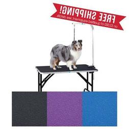 "Dog Grooming Table with Arm Size: 33"" H x 24"" W x 36"" L"