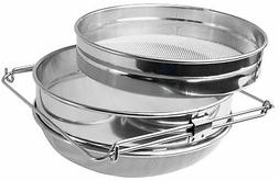ZUINIUBI Double Sieve Honey Strainer Stainless Steel Filter