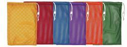 Champion Sports Durable Mesh Drawstring Sports Equipment Bag