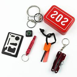 Emergency Camping box self-help SOS survival <font><b>kit</b