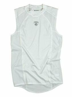 Reebok Equipment NFL Men's Sleeveless Compression Shirt, Whi