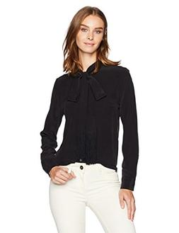 Equipment Women's Essential Tie Neck, True Black, S