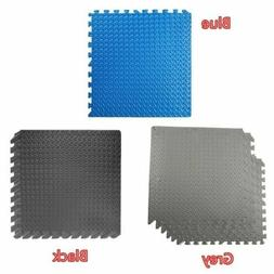 EXERCISE FLOOR MAT Puzzle Rug Fitness Gym Workout 6 Tiles We
