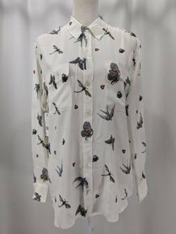 Equipment Femme Long Sleeve Button Down Silk Blouse Women's