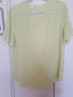 "Equipment femme silk blouse. Size L 21"" across"