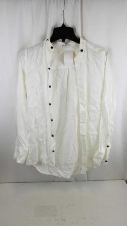 Equipment Femme Silk Long Sleeve Button Up SHIRT NATURE WHIT