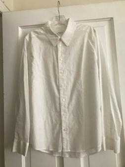 Equipment Femme White Cotton Shirt Sz. L NWOT