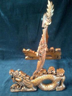 Blueberry Hand Carved Guitar Stand - 60 day delivery - Drago