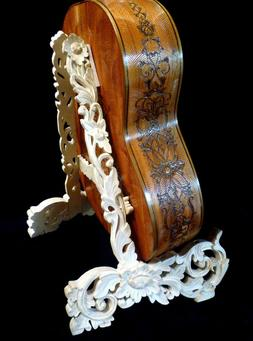 Blueberry Hand Carved Guitar Stand - 60 day delivery