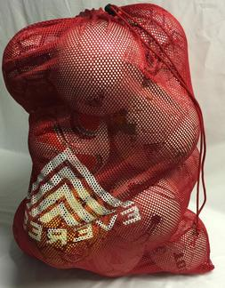 HEAVY DUTY MESH BALL EQUIPMENT BAG. SOCCER. BASKETBALL. FOOT