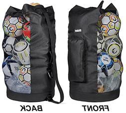 Heavy Duty XL Soccer Mesh Equipment Ball Bag w/Adjustable Sh